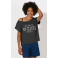 T-shirt anthracite grand col femme Going