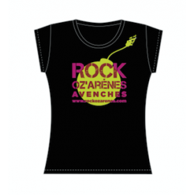 """T-Shirt NOIR FEMME """"BOMBE"""""""