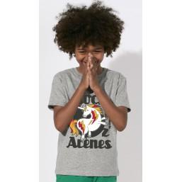 T-shirt gris rond noir enfant