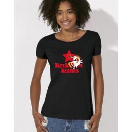 T-shirts noirs étoile rouge femme