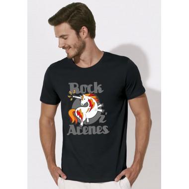 T-shirts noirs licorne étoiles Homme