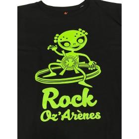 T-shirt homme noir alien vert