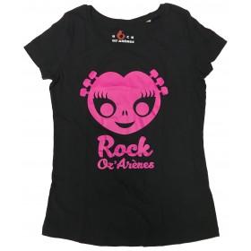 T-shirt enfant noir  alien rose