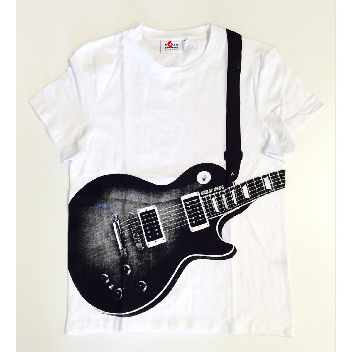 t shirt guitare homme rock oz 39 ar nes many ways. Black Bedroom Furniture Sets. Home Design Ideas