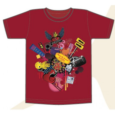 "T-shirt ROUGE HOMME ""Birthday 20ans"""